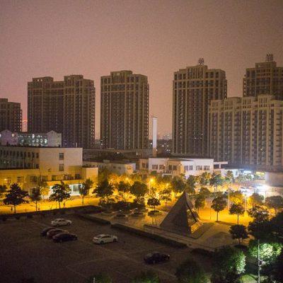 Exkursion, China: Huzhou bei Nacht Foto: Patrick Beuchert / www.patrick-beuchert.de