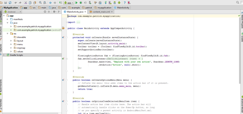 Screenshot Android Studio
