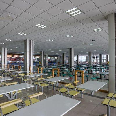 China Exkursion FHWS nach Huzhou: Leere Mensa am Morgen Foto: Patrick Beuchert / www.patrick-beuchert.de