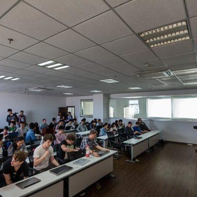 China Exkursion FHWS nach Huzhou: Voller Unterrichtsraum Foto: Patrick Beuchert / www.patrick-beuchert.de