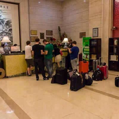 China Exkursion FHWS nach Huzhou: Ankunft im Crown Hotel Foto: Patrick Beuchert / www.patrick-beuchert.de