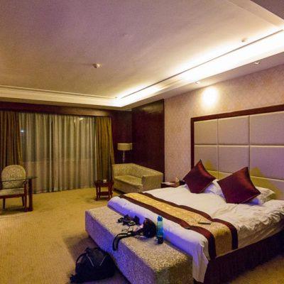 China Exkursion FHWS nach Huzhou: Ankunft im Crown Hotel/Luxuszimmer Foto: Patrick Beuchert / www.patrick-beuchert.de